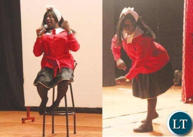 Dorika donning the KBBK uniform on stage.