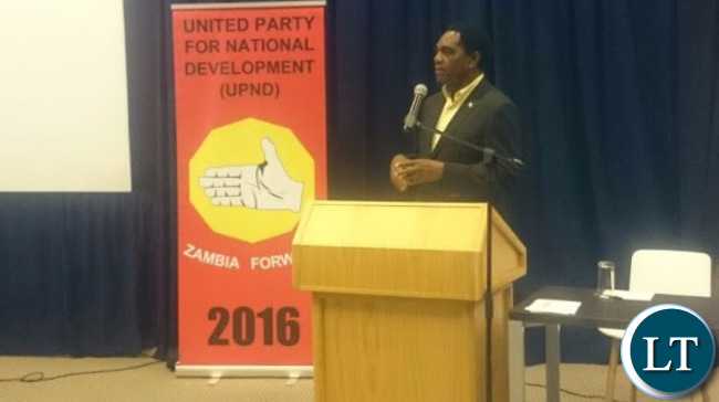 HH addressing members of the Zambian Diaspora and South African business community in Johannesburg