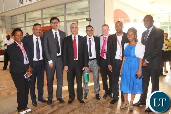 Bharti Airtel CEO and Chairman Sunil Bharti Mittal with Staff
