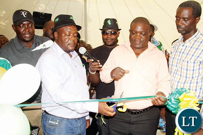 PF Lusaka- rovince chairperson Horace Longwe Lusaka Central councillor Chikutano Nkoma