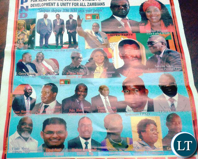 UPND Campaign Poster