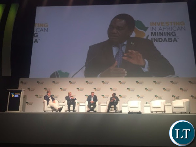HH at the Mining Indaba in Cape Town