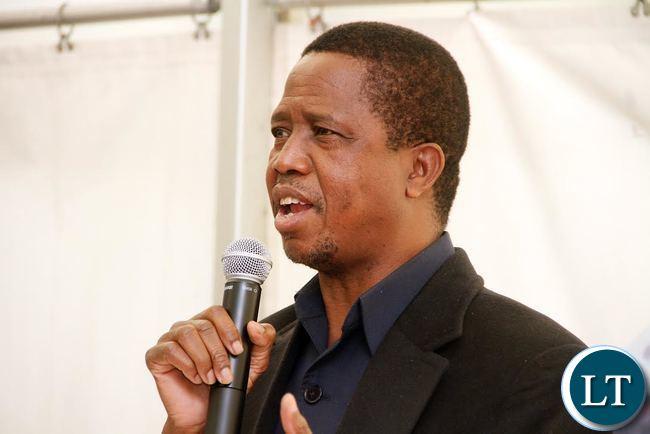 President Lungu addressing Zambias in Paris