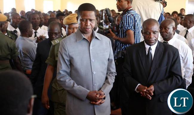 President Lungu being welcomed at Church
