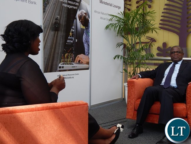 Mines Minister Mr. Christopher Yaluma in an interview with SABC's Liabo Setho at the Mining Conference in Cape Town on 8th February, 2016