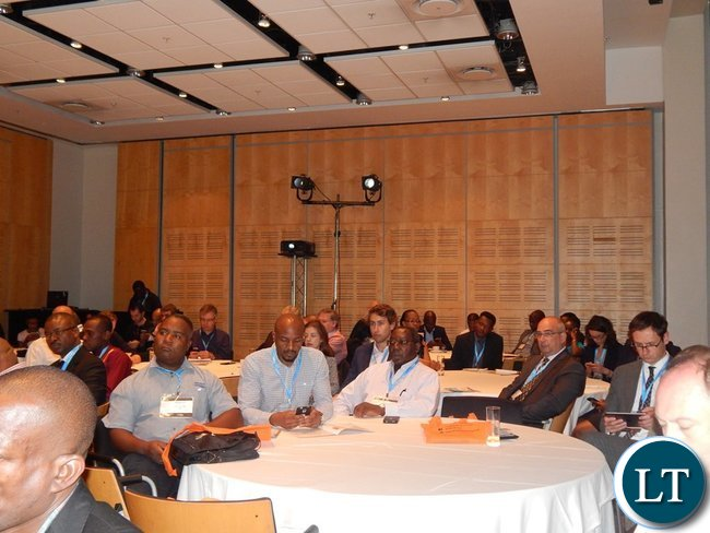 part of the audience at the Country Case Study on Zambia session at the 2016 Mining Conference in Cape Town on 10th February