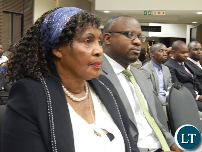 Zambian High Commission First Secretary for Education Mrs. Emmerentiana Bweupe and First Secretary for Trade Mr. Mande Kauseni following the programme at the graduation ceremony of 130 youths from the Southern African region at the University of South Africa in Pretoria on 25th February, 2016