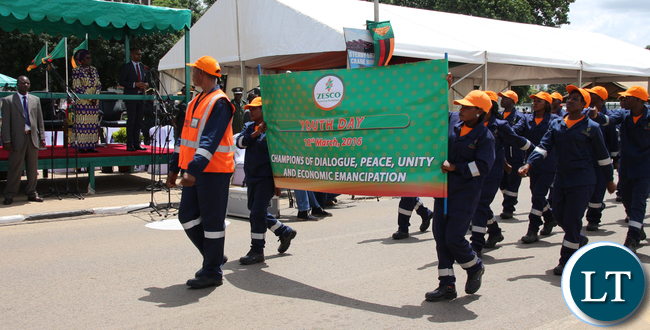 ZESCO employees during Youth Day Celebrations