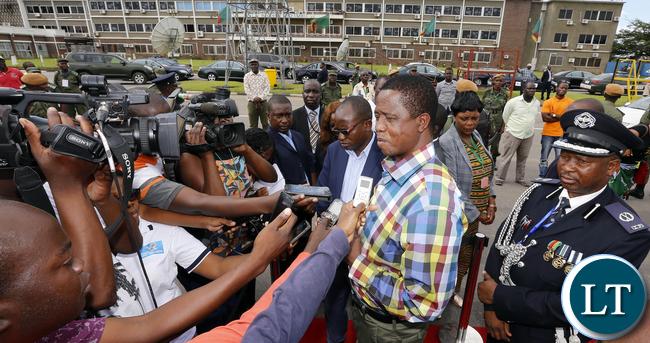 President Edgah Lungu Press Interview at KK International airport from Mozambique