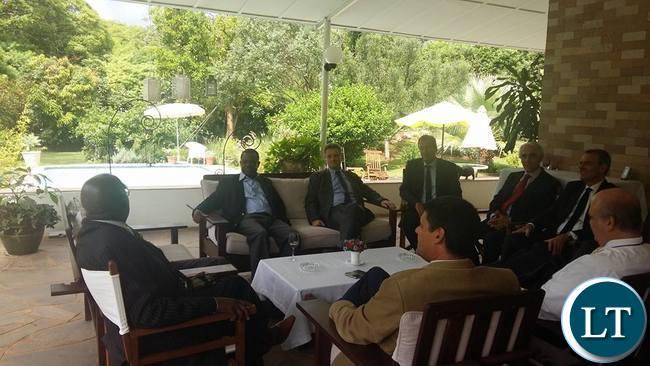 Western diplomats meeting Wynter Kabimba
