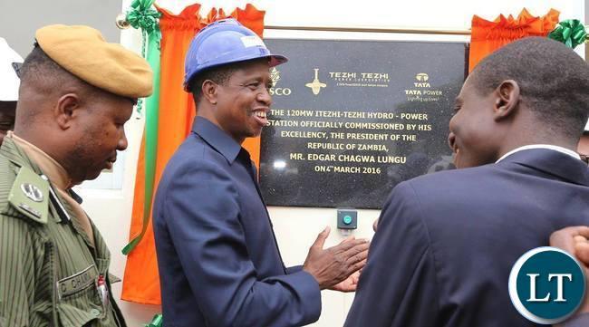 President Lungu commissioning Itezhi Tezhi hydro Electric Power Station