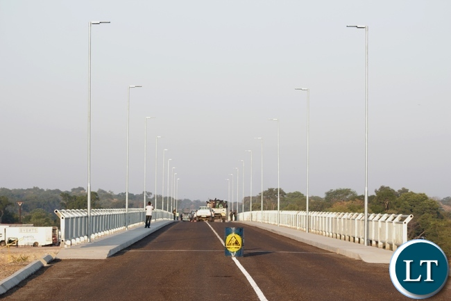 The just commissioned Sioma Bridge built at a cost of K108.2million in Sioma District of Western Province