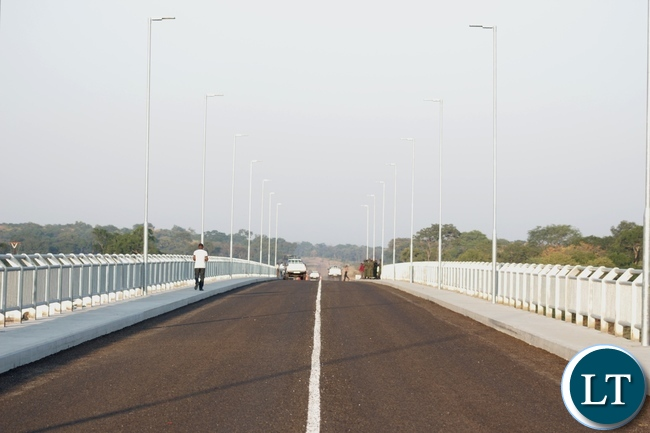 The just commissioned Sioma Bridge built at a cost of K108.2million in Sioma District of Western Province,