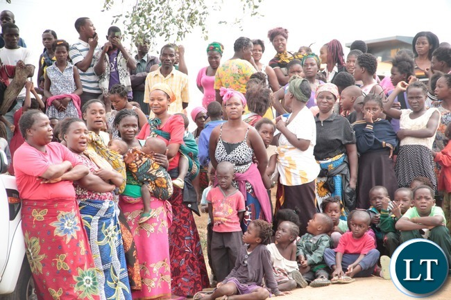 The Resident of Garden Compound Lusaka gathered   during the ground breaking in Garden Compound