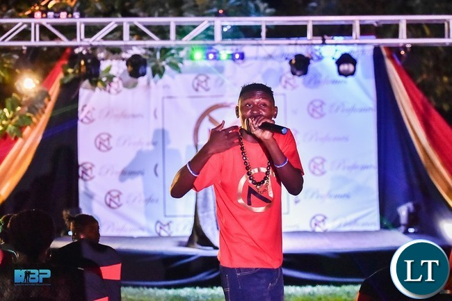 B-Flow performing at the launch of Mubita Nawa's event