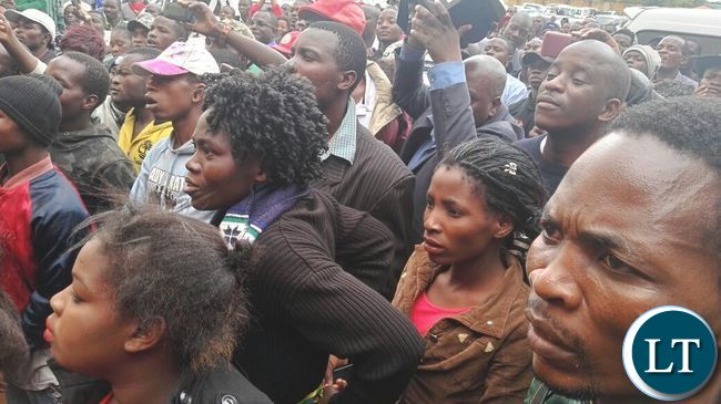 UPND Cadres at the Court to offer Solidarity to GBM