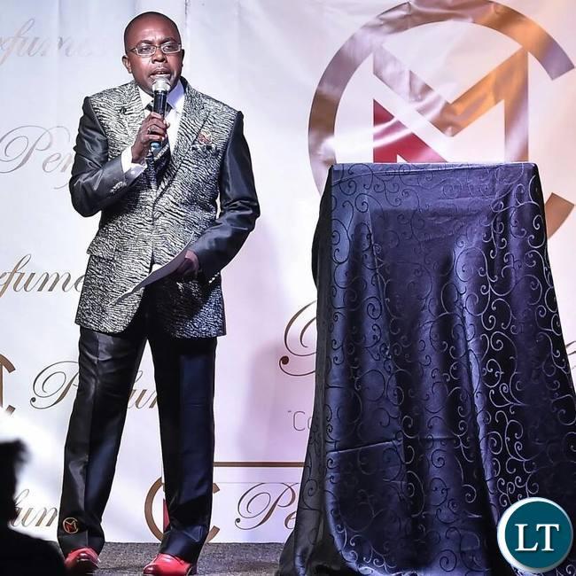Mubita Nawa delivering his speech