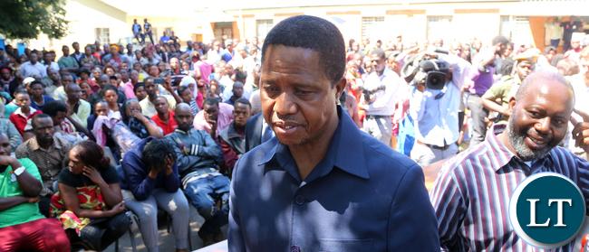 President Edgar Lungu Visits Lusaka Riots Victims at Kalemba Hall in Lusaka
