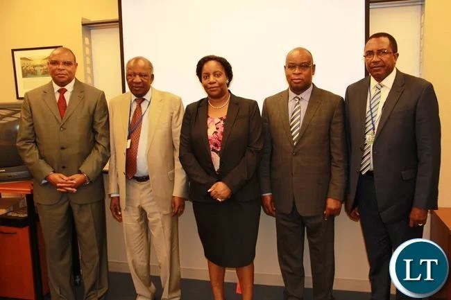 Chikwanda, Mr. Yamba and Dr Kalyalya after paying a courtesy call on Ms. Kapwepwe at the IMF offices in Washington DC.