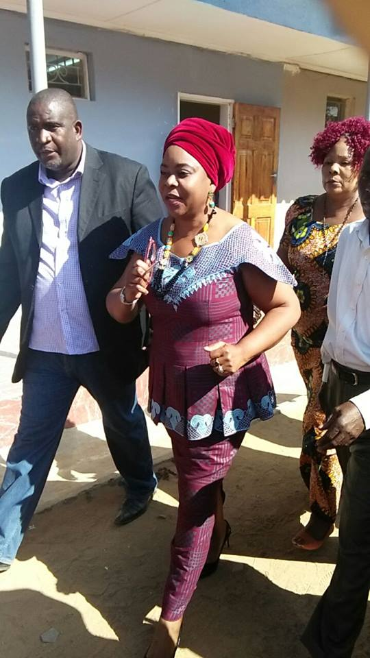 Dr Mwanawasa after successfuly filing in her nomination papers