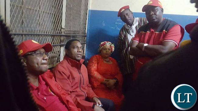 HH leads the UPND leadership in visiting GBM who has been locked up in Ndola Central Police