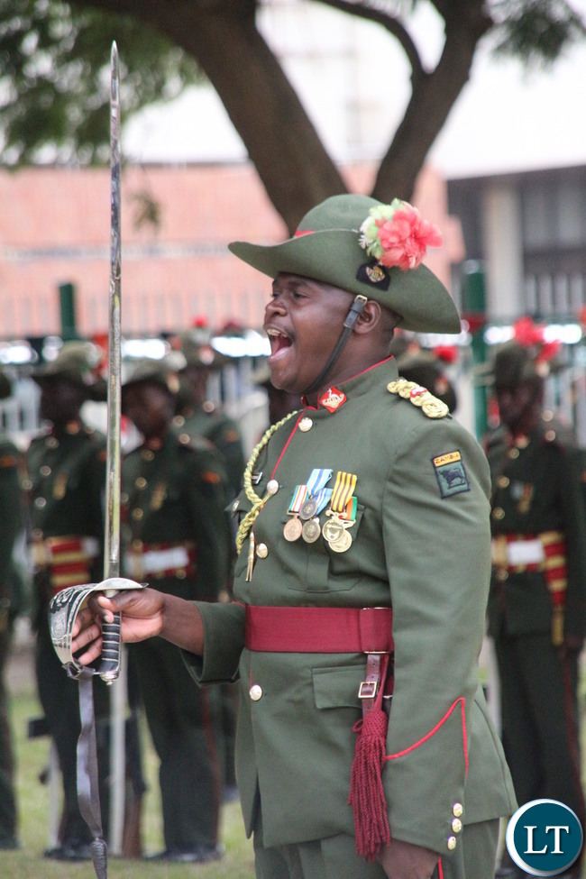 Zambia Army Parade at African Freedom Day in Lusaka