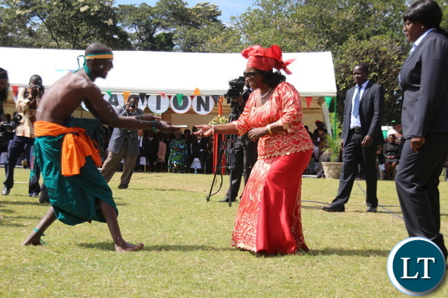 First Lady joins in the Dancing