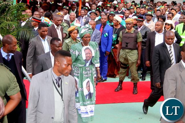 President Edgar Changwa Lungu's Running Mate Inonge Mutukwa Wina