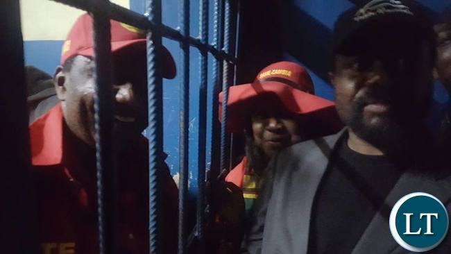 Incarcerated GBM being visited by wife Chama and Dr Canisius Banda