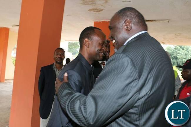 Mulenga Sata hugs Request Muntanga