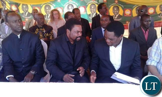 Mulenga Sata with Dr Banda and HH