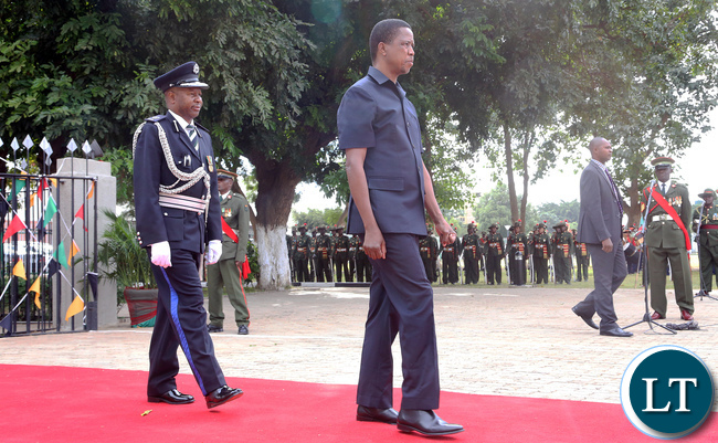 President Edgar Lungu at Africa Freedom Day in Lusaka