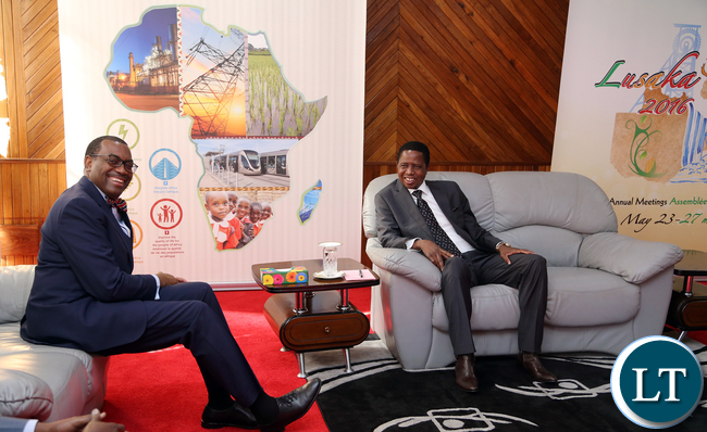 President Edgar Lungu meets AFDB President Dr Akinwumi Adesina in Lusaka