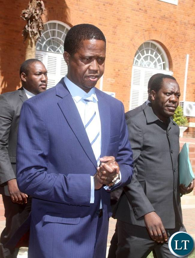 President Lungu arrive at State House for the Press Conference on Friday, May 13,2016 -Pictures by THOMAS NSAMA