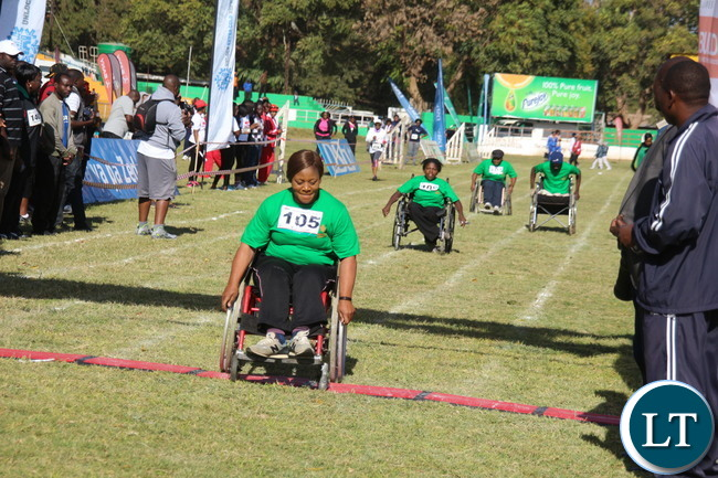 The physically challenged race starting off.