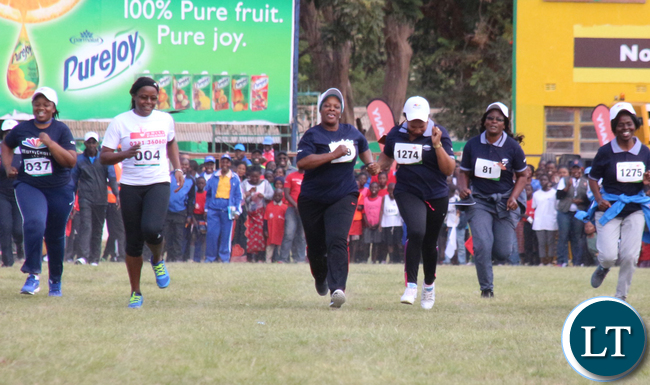 Zambia 1st lady Esther Lungu during CEOs race.