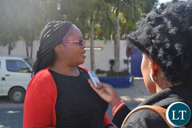 MISA Zambia Chairperson Hellen Mwale speaks to Journalists after she toured the closed Post Newspapers