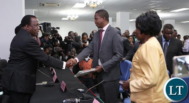 President Edgar Lungu Files in His Nomination