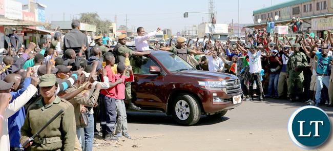 President Lungu Nominations freedom way drive