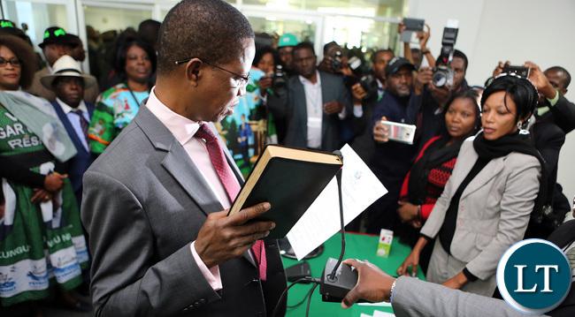 President Lungu files nomination