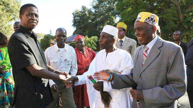 President Edgar Lungu on Saturday held meeting with Chiefs from Luapula at State house