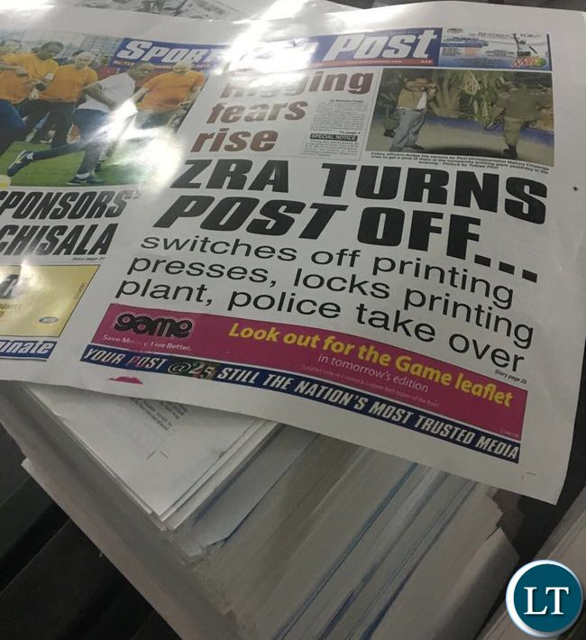 Today's edition of the Post Newspapers