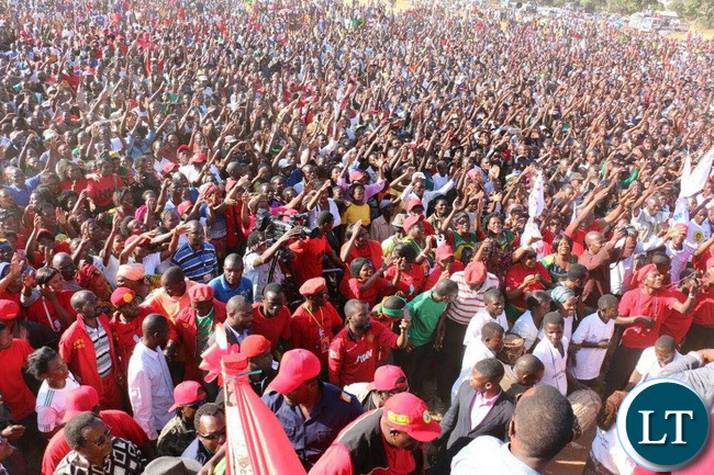 Everyone gathered to hear from HH, GBM, Mulenga Sata, Guy Scott and other UPND members speak