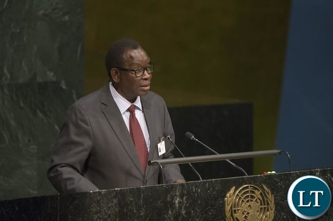 Dr. Joseph Kasonde, Minister of Health of Zambia, addresses the High-level meeting of the General Assembly on HIV/AIDS Implementation of the Declaration of Commitment on HIV/AIDS and the political declarations on HIV/AIDS