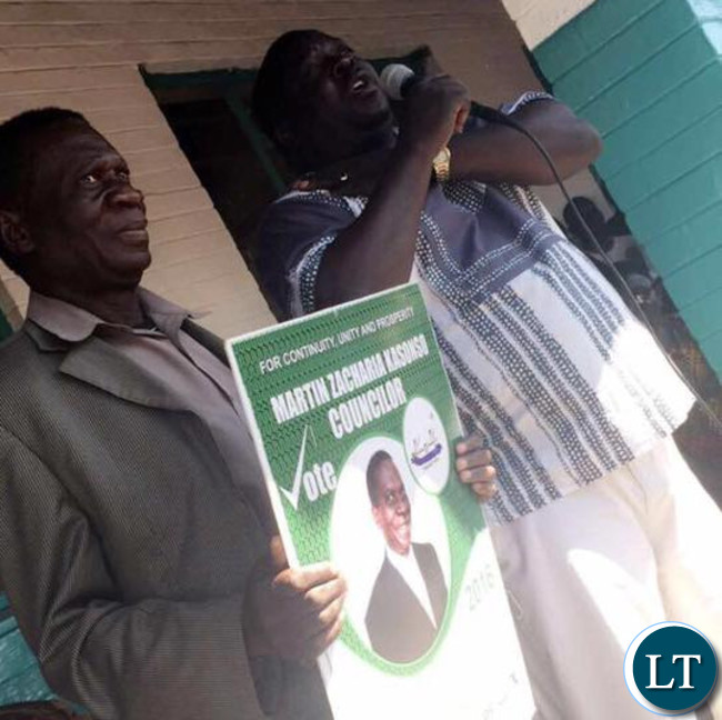 Dr Kambwili introducing the PF candidate