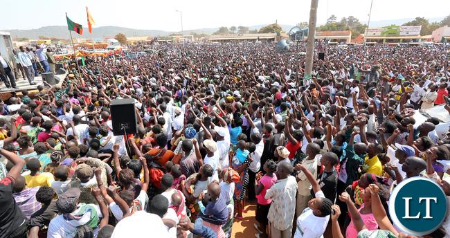President Lungu with Malozo Sichone at Isoka Rally