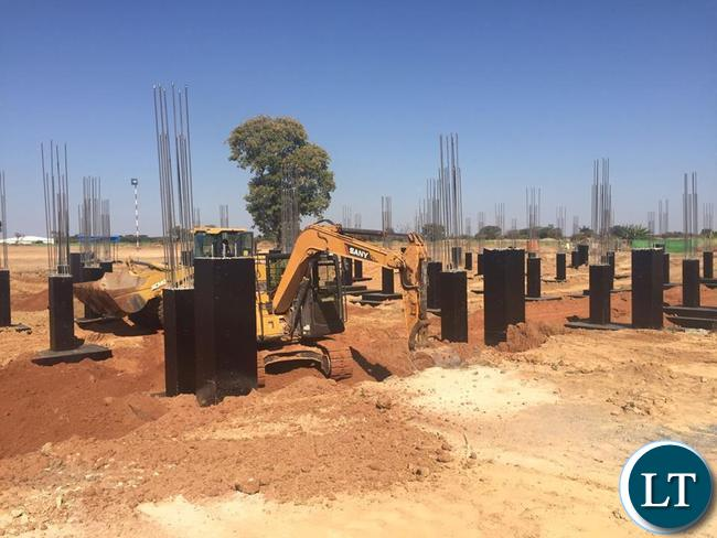VVIP Presidential terminal building foundation works   underway at the new KKIA