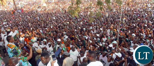 President Lungu and First Lady Esther Lungu addresses a rally in Mumbwa on Sunday, July 30,2016-Picture by THOMAS NSAMA