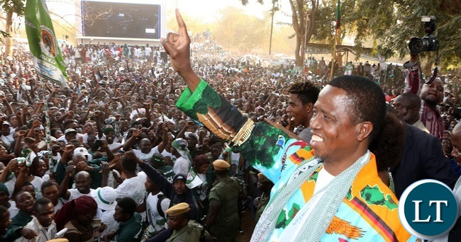 SONTA..President Lungu at the Rally in Mumbwa on Sunday