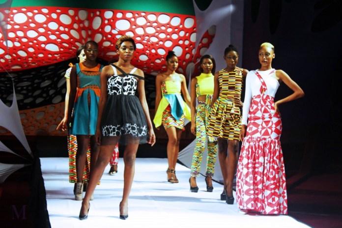 Models at the 2015 Zambian Fashion week